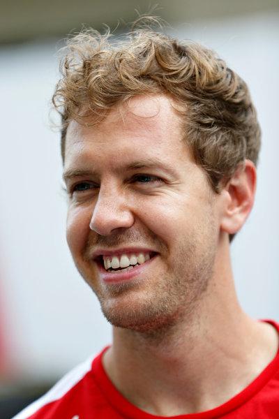 Interlagos, Sao Paulo, Brazil. Saturday 14 November 2015. Sebastian Vettel, Ferrari. World Copyright: Charles Coates/LAT Photographic ref: Digital Image _J5R4548