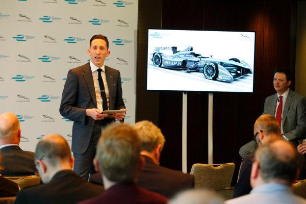 Jaguar Formula E Announcement London, UK Tuesday 15 December 2015 Jaguar Formula E Team Director James Barclay. World Copyright: Steven Tee/LAT Photographic ref: Digital Image _X0W7228