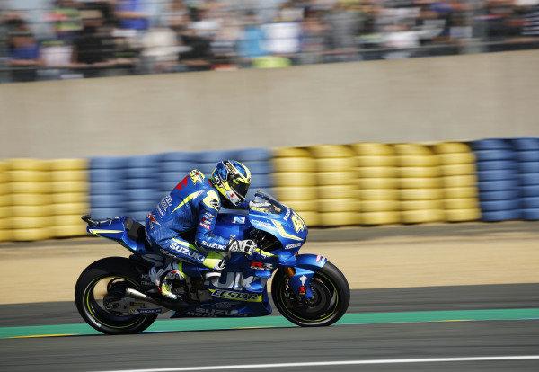 2016 MotoGP Championship.  French Grand Prix.  Le Mans, France. 6th - 8th May 2016.  Aleix Espargaro, Suzuki.  Ref: _W5_2441a. World copyright: Kevin Wood/LAT Photographic