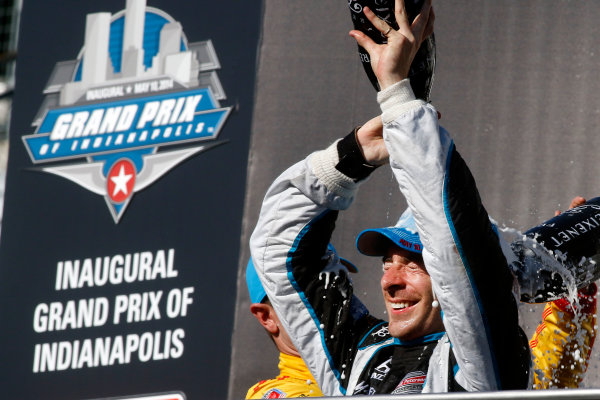 8-10 May, 2014, Indianapolis, Indiana, USA Simon Pagenaud, victory lane. ©2014, Brian Cleary LAT Photo USA