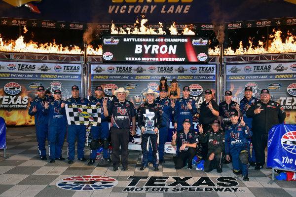 9-10 June, 2016, Fort Worth, Texas USA William Byron celebrates his win in Victory Lane ? 2016, Nigel Kinrade LAT Photo USA