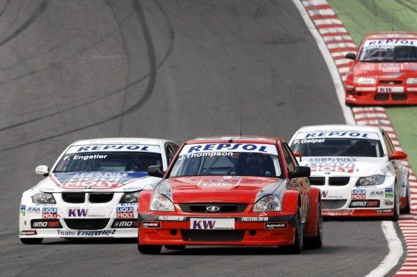 James Thompson (GBR), Lada Priora. FIA World Touring Car Championship, Rd8, Brands Hatch, England, 19 July 2009.