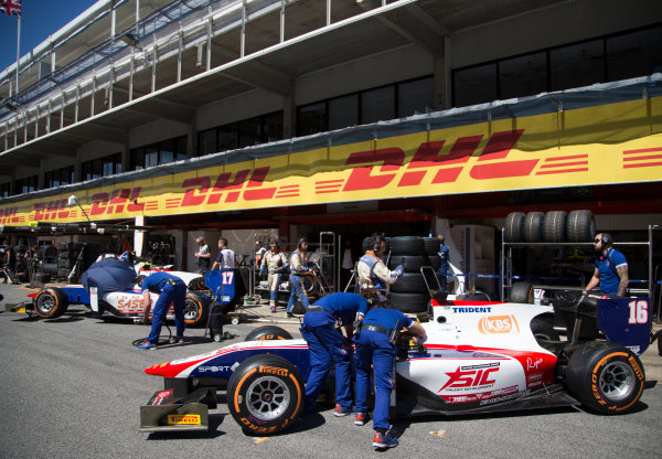 2017 FIA Formula 2 Round 2. Circuit de Catalunya, Barcelona, Spain. Friday 12 May 2017. Nabil Jeffri (MAS, Trident)  Photo: Jed Leicester/FIA Formula 2. ref: Digital Image JL1_9138
