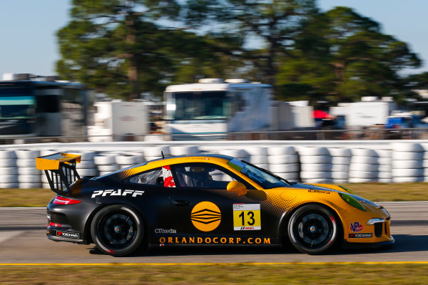 2017 Porsche GT3 Cup USA Sebring International Raceway, Sebring, FL USA Wednesday 15 March 2017 13, Orey Fidani, GT3G, USA, 2016 Porsche 991 World Copyright: Jake Galstad/LAT Images ref: Digital Image lat-galstad-SIR-0317-14875