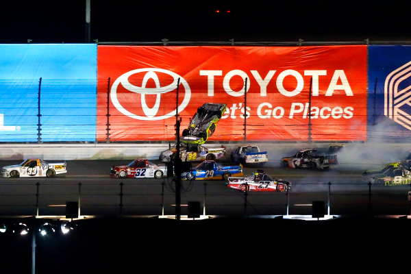 2017 Camping World Truck - NextEra Energy Resources 250 Daytona International Speedway, Daytona Beach, FL USA Friday 24 February 2017 Matt Crafton crash World Copyright: Russell LaBounty/LAT Images ref: Digital Image 17DAY2rl_04659
