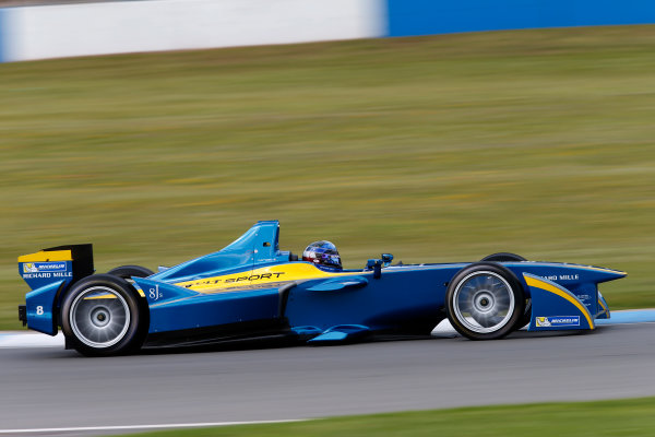 FIA Formula E Test Day, Donington Park, UK.  9th - 10th July 2014.  Nicolas Prost, e.dams. Photo: Glenn Dunbar/FIA Formula E ref: Digital Image _89P3585