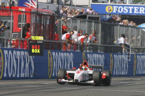 2006 GP2 Series Round 6. Silverstone, England. 11th June 2006. Sunday race. Lewis Hamilton (GBR, ART Grand Prix) wins the race. Action. World Copyright: Jakob Ebrey/GP2 Series Media Service. Ref: Digital Image Only.YY8P4334 jpg
