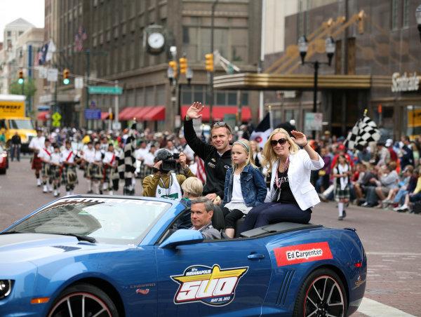26  May, 2013, Indianapolis, Indiana,  USA Pole Sitter Ed Carpenter and wife Heather.(c)2013, Maria W. GradyLAT Photo USA