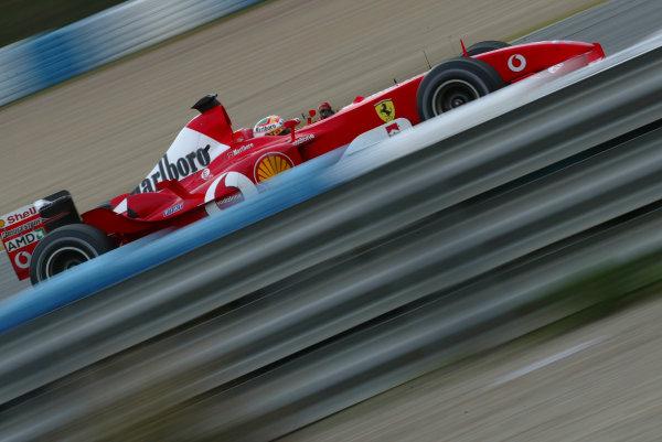 2003 Formula One TestingJerez, Spain.2nd December 2003.Felipe Massa (Ferrari F2003-GA). Action.World Copyright:Glenn Dunbar/ LAT Photographic.Digital Image Only.