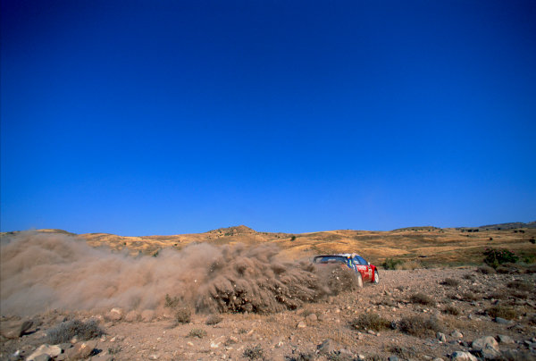 2003 World Rally ChampionshipRally of Cyprus, Cyprus. 19th - 22nd June 2003.Carlos Sainz/Marc Marti (Citroen Xsara), action.World Copyright: McKlein/LAT Photographicref: 03WRCCyprus05