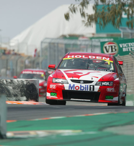 2003 Australian V8 Supercars Surfers Paradise, Australia. October 25th 2003.Mark Skaife leads his HRT team-mate Todd Kelly during qualifying for the Gillette V8 Supercar event at Lexmark Indy 300 at the Sufer's Paradise street circuit.World Copyright: Mark Horsburgh/LAT Photographicref: Digital Image Only