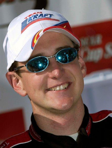 2003 NASCAR-California Speedway, April 25-27 2003 Kurt Busch is all smiles,World Copyright -RobertLeSieur 2003LAT Photographic-ref: digital image