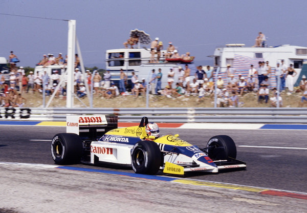 1986 French Grand Prix. Paul Ricard, Le Castellet, France. 4-6 July 1986. Nigel Mansell (Williams FW11 Honda) 1st position. Ref-86 FRA 37. World Copyright - LAT Photographic