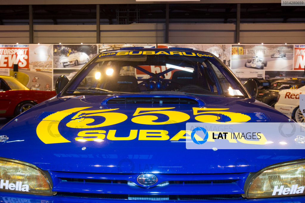 Autosport International Exhibition. National Exhibition Centre, Birmingham, UK. Thursday 8 January 2015. The Subaru Impreza of Colin McRae on the Motorsport News stand. World Copyright: LAT Photographic. ref: Digital Image EL0G1860