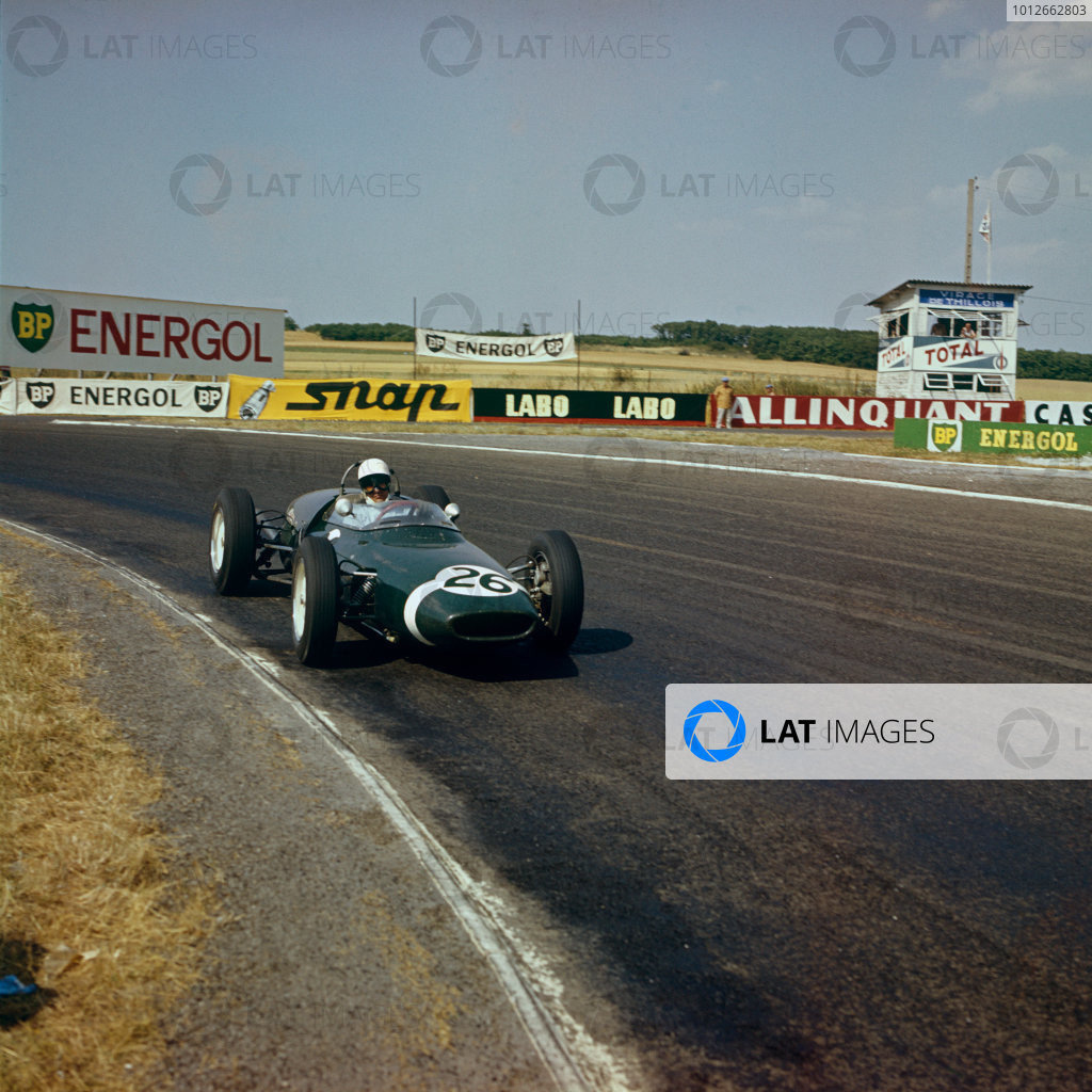 Reims, France. 30th June - 2nd July 1961.Stirling Moss (Lotus 18/21 Climax), retired, action.World Copyright: LAT PhotographicRef: 3 - 308A
