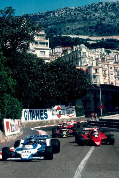 Jacques Laffite (FRA) Ligier JS11, who retired from the race on lap 56 with a broken gearbox, leads Nelson Piquet (BRA) Brabham BT48, who retired from the race on lap 69 with a broken driveshaft.Monaco Grand Prix, Rd 7, Monte Carlo, Monaco, 27 May 1979.BEST IMAGE