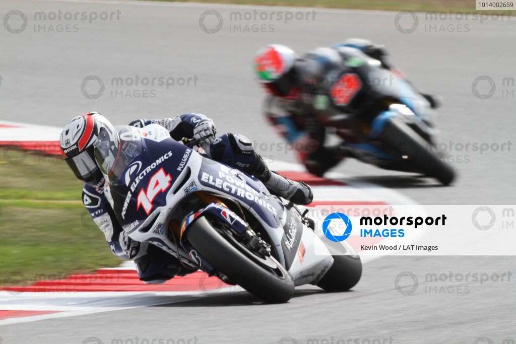 British Grand Prix.  Silverstone, England. 30th August - 1st September 2013.  Randy De Puniet, Aspar ART.  Ref: IMG_2138a. World copyright: Kevin Wood/LAT Photographic