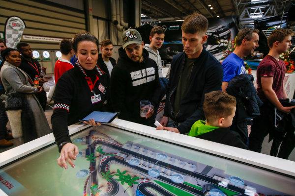 Autosport International Exhibition. National Exhibition Centre, Birmingham, UK. Saturday 13th January, 2018. The Bahrain International Circuit stand.World Copyright: Joe Portlock/LAT Images Ref: _L5R0110