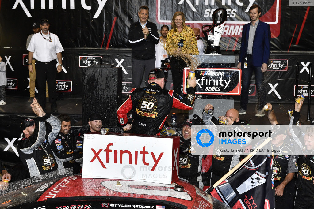 #2: Tyler Reddick, Richard Childress Racing, Chevrolet Camaro TAME the BEAST celebrates his race and championships wins in victory lane
