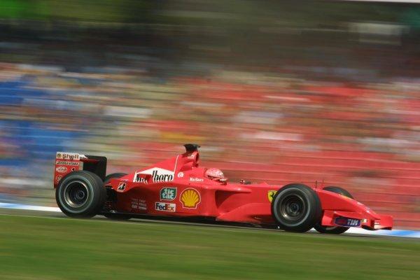 2001 German Grand PrixHockenheim, Germany. 27th July 2001Michael Schumacher, Ferrari F2001, action.World Copyright - LAT PhotographicRef: 9 MB Digital File Only