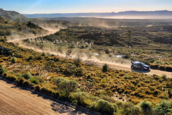 Elfyn Evans (GBR) / Daniel Barritt (GBR), M-Sport World Rally Team Ford Fiesta WRC at World Rally Championship, Rd5, Rally Argentina, Day Two, Villa Carlos Paz, Cordoba, Argentina, 29 April 2017.