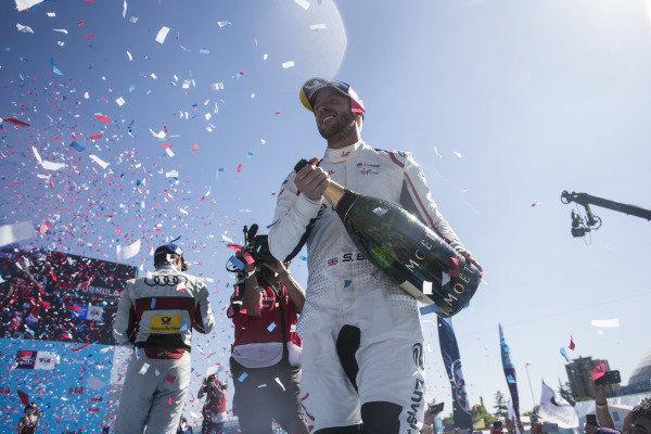 Winner Sam Bird (GBR), Envision Virgin Racing celebrates on the podium