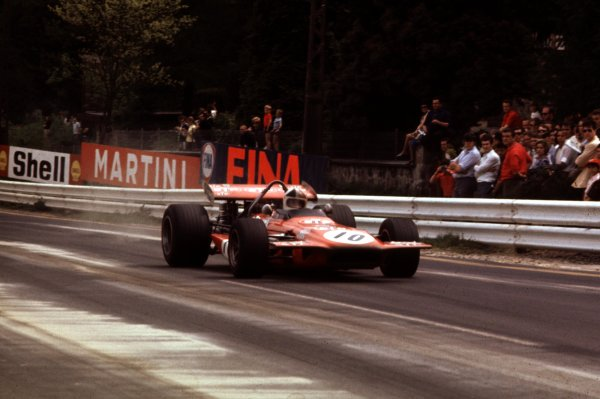 1970 Belgian Grand Prix.Spa-Francorchamps, Belgium.5-7 June 1970.Chris Amon (March 701 Ford) 2nd position.Ref-70 BEL 11.World Copyright - LAT Photographic