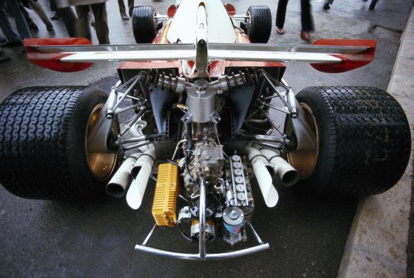 The rear of the Ferrari 312B2.