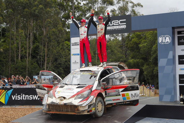 Jari-Matti Latvala and Mikka Anttila, Toyota Gazoo Racing, Toyota Yaris WRC 2018, winners of Rally Australia
