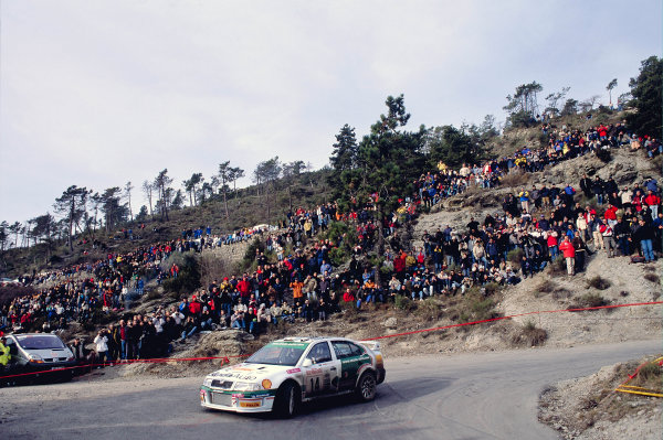 2003 FIA World Rally Championship. Monte Carlo, Monaco. Rd1.23-26 January 2003.Didier Auriol/Denis Giraudet (Skoda Octavia WRC Evo 3) 9th position.World Copyright: McKlein/LAT Photographicref: 35mm Image A08