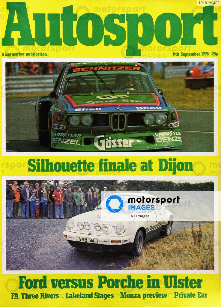 Cover of Autosport magazine, 9th September 1976
