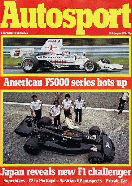 Cover of Autosport magazine, 12th August 1976