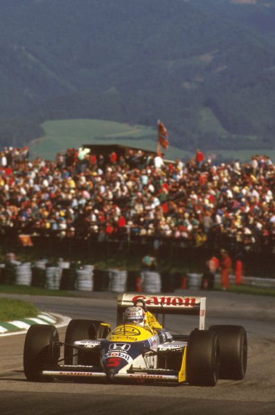 Osterreichring, Zeltweg, Austria.14-16 August 1987.Nigel Mansell (Williams FW11B Honda) 1st position.Ref-87 AUT 05.World Copyright - LAT Photographic