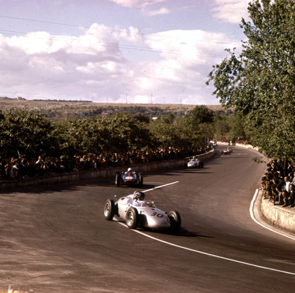 1961 Syracuse Grand Prix.Syracuse, Sicily, Italy.25 April 1961.Dan Gurney (Porsche 718), 2nd position.Ref-3/0221.World - LAT Photographic