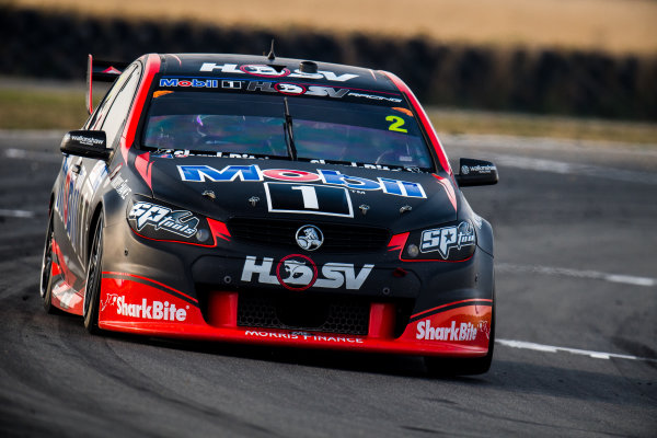 2017 Supercars Championship Round 2.  Tasmania SuperSprint, Simmons Plains Raceway, Tasmania, Australia. Friday April 7th to Sunday April 9th 2017. Scott Pye drives the #2 Mobil 1 HSV Racing Holden Commodore VF. World Copyright: Daniel Kalisz/LAT Images Ref: Digital Image 070417_VASCR2_DKIMG_1701.JPG
