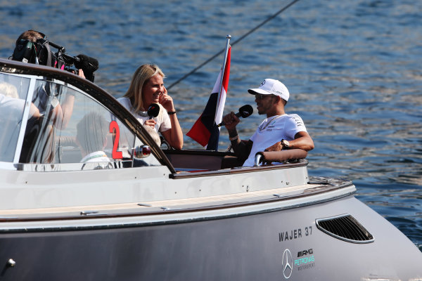 Monte Carlo, Monaco. Sunday 28 May 2017. Lewis Hamilton, Mercedes AMG.  World Copyright: Zak Mauger/LAT Images ref: Digital Image AN7T7753