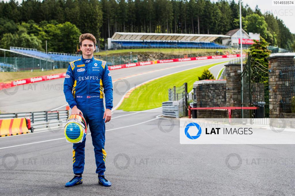 2017 FIA Formula 2 Round 8. Spa-Francorchamps, Spa, Belgium. Thursday 24 August 2017. Oliver Rowland (GBR, DAMS).  Photo: Zak Mauger/FIA Formula 2. ref: Digital Image _56I0264