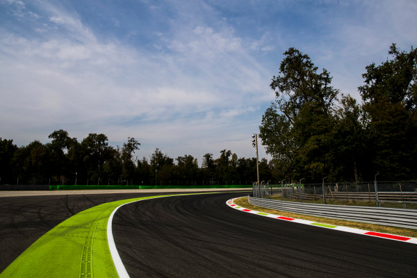 2017 GP3 Series Round 6.  Autodromo Nazionale di Monza, Monza, Italy. Thursday 31 August 2017. A view of Parabolica. Photo: Zak Mauger/GP3 Series Media Service. ref: Digital Image _56I4956