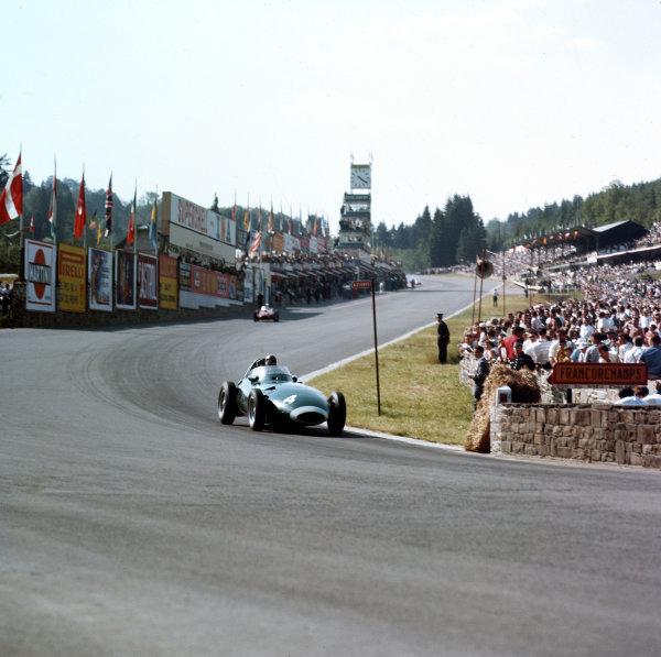Spa-Francorchamps, Belgium.13-15 June 1958.Tony Brooks (Vanwall) 1st position, action.Ref-3/0048.World Copyright - LAT Photographic