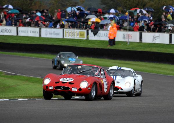 Goodwood Estate, West Sussex, 15th - 18th September 2011 RAC Tourist Trophy Mark Hales/Martin Brundle, Ferrari GTO, 2nd position, action.  World Copyright:Jeff Bloxham/LAT Photographic Ref: Digital Image