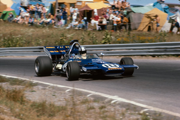 Mosport Park, Canada. 19th September 1971.Mark Donohue (McLaren M19A-Ford), 3rd position, action. World Copyright: LAT Photographic.Ref:  71CAN49.