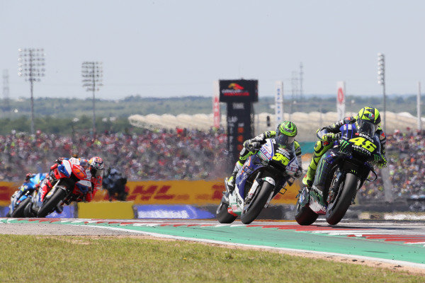 Valentino Rossi, Yamaha Factory Racing, Cal Crutchlow, Team LCR Honda.