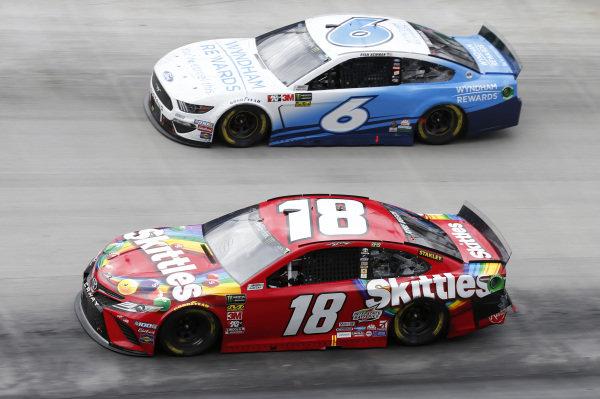 #18: Kyle Busch, Joe Gibbs Racing, Toyota Camry Skittles #6: Ryan Newman, Roush Fenway Racing, Ford Mustang Wyndham Rewards