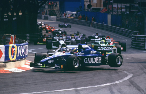 International F3000 MonacoMonte Carlo, Rd 5, 2nd - 3rd june 2000.Bourdais and David Saelens clash at the first corner. Saelens was able to continue, with Bourdais forced to retire.World - Bellanca/ LAT PhotographicThree Thousand Monaco