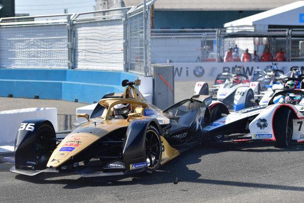 Andre Lotterer (DEU), DS TECHEETAH, DS E-Tense FE19 makes contact with Jose Maria Lopez (ARG), GEOX Dragon Racing, Penske EV-3