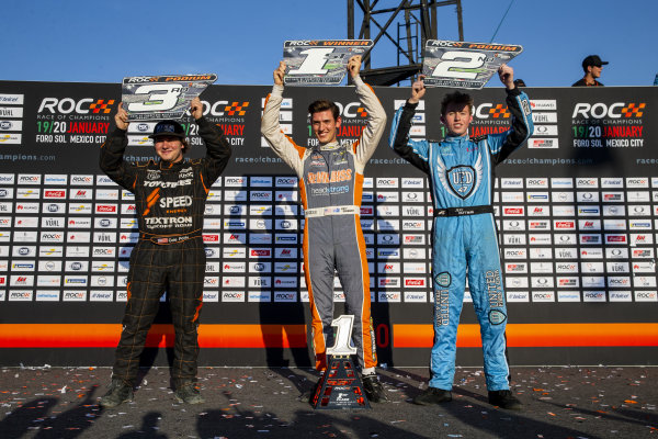 Stadium Super Truck race podium on Sunday 20 January 2019 at Foro Sol, Mexico City, Mexico