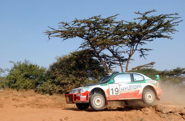 2002 World Rally Championship.Safari Rally, Nairobi Kenya, July 11-14th.Juha Kankkunen on section one.Photo: Ralph Hardwick/LAT