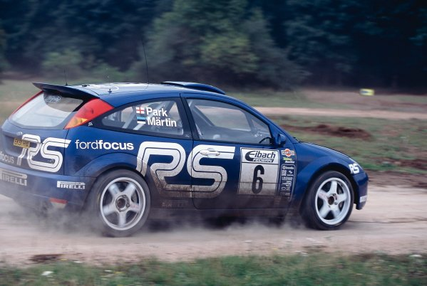 2002 World Rally Championship.ADAC Rallye Deutschland, Trier, Germany. August 22nd - 25th 2002.Markko Martin/Michael Park (Ford Focus WRC 02), action.Photo: McKlein/LAT Photographicref: 35mm Image A07