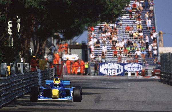 2001 F3000 ChampionshipMonte Carlo, Monaco. 26th May 2001Race winner Mark Webber, Super Nova Racing - action.World Copyright: Lorenzo Bellanca / LAT Photographicref: 35mm Image A03