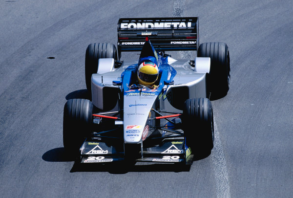 1999 Monaco Grand Prix.Monte Carlo, Monaco. 13-16 April 1999.Luca Badoer (Minardi M01 Ford).Ref-99 MON 97.World Copyright - Charles Coates/LAT Photographic